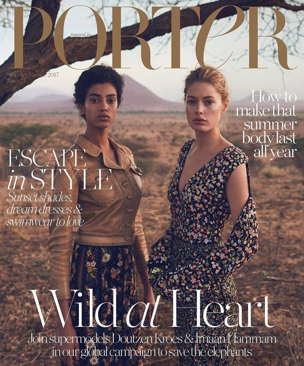 Doutzen Kroes & Imaan Hammam Cover Porter Magazine Summer Escape 2017 Issue