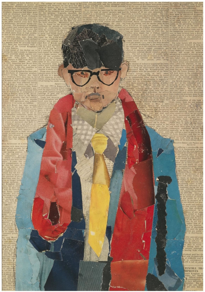 David Hockney self-portrait, 1954