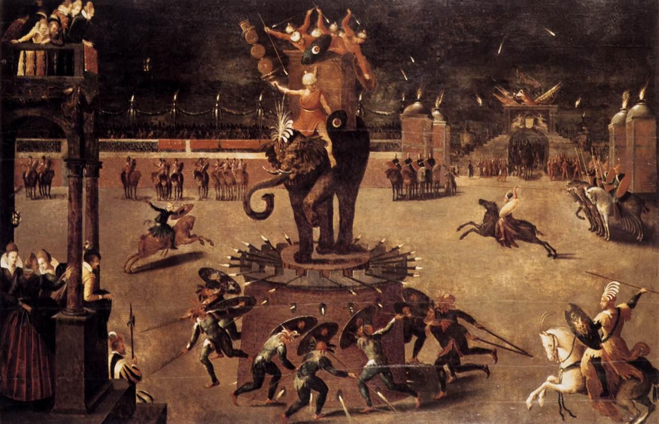 2 Antoine_Caron_-_Merry-go-round_with_Elephant_-_WGA4277.jpg