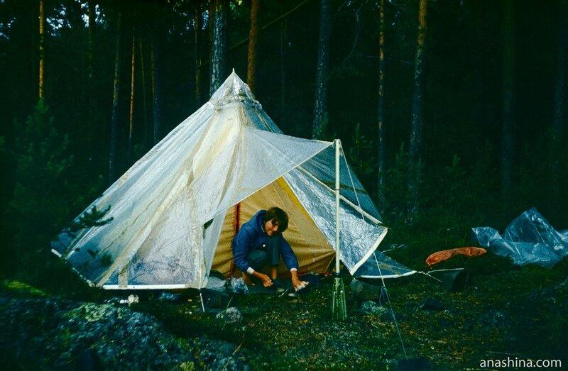 Наша самодельная палатка-таймырка