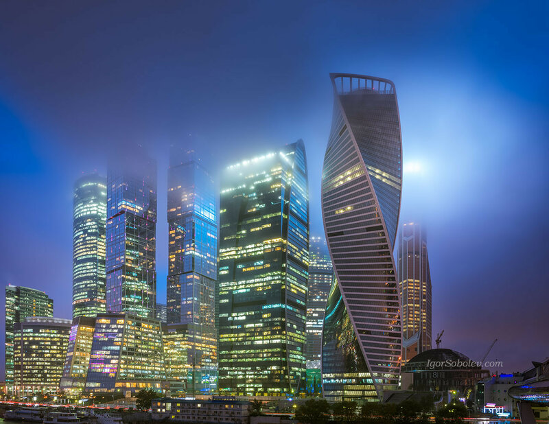 Москва-сити в тумане