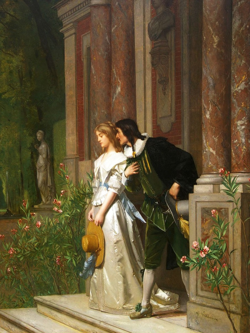 FLORENT WILLEMS (1823-1905) The Proposal