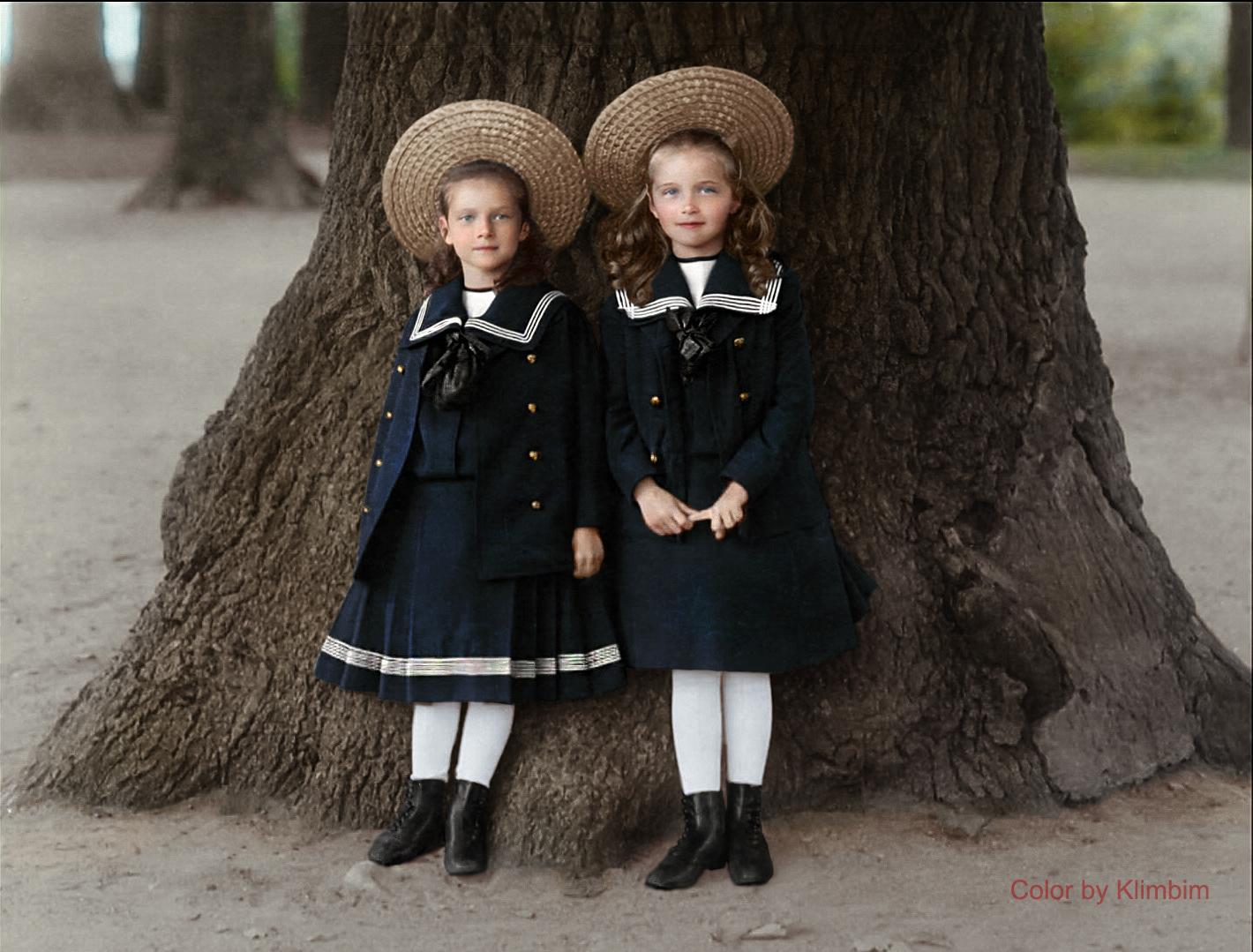 Великие княжны Татьяна и Ольга