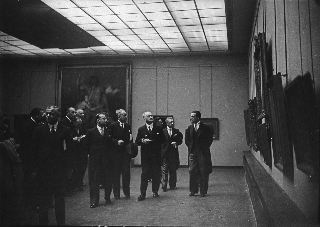 Открытие павильона города Париж (Музей современного искусства). Президент Альберт Лебрен. 24 мая 1937