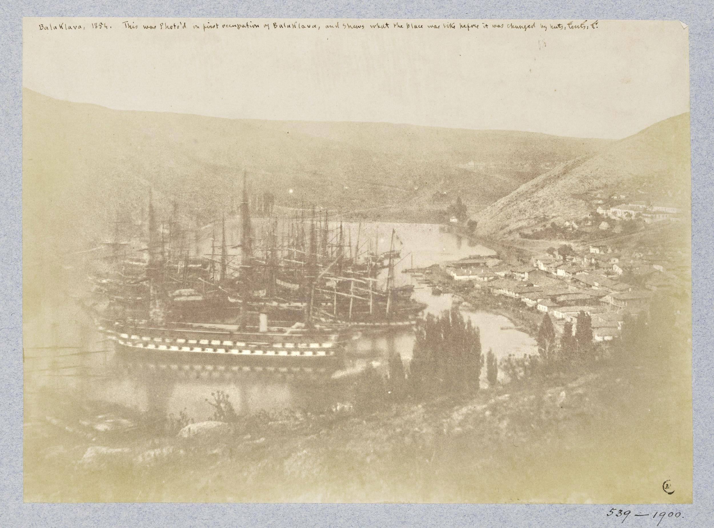 Самая ранняя фотография Балаклавы. 1854