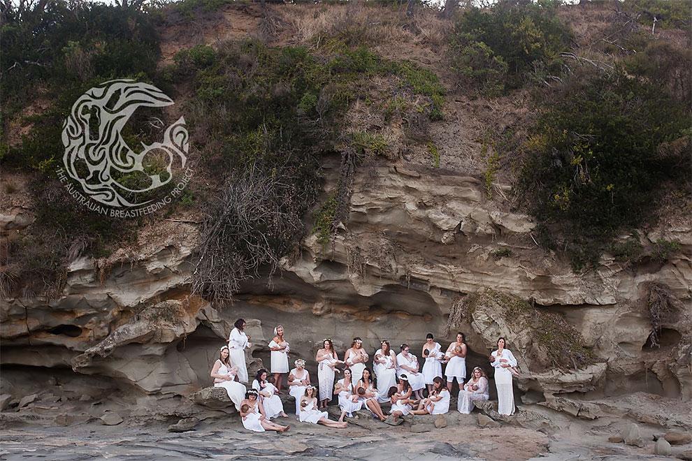 Кормящие матери в живописных уголках Австралии