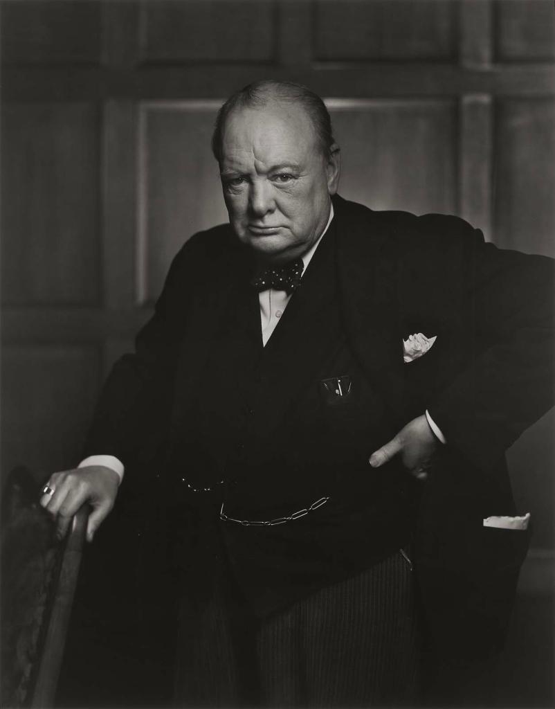 Уинстон Черчилль1941 Юсуф Карш Канадский фотограф 1908-2002