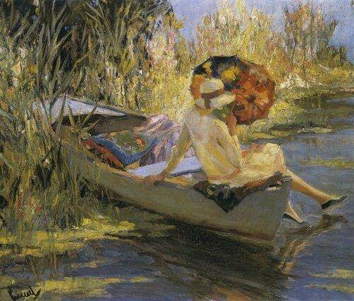 Американский художник Edward Alfred Cucuel (1875-1954) Тихая вода