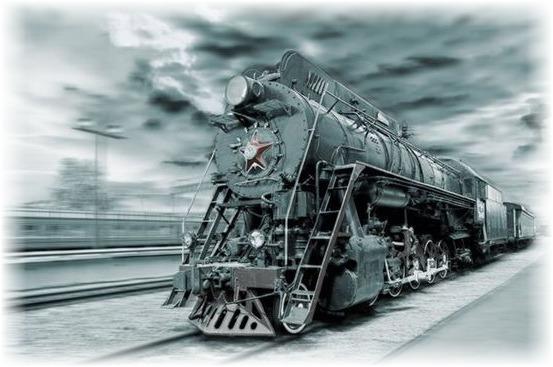 День железнодорожника. Паровоз