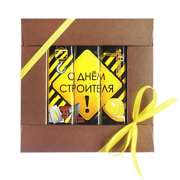 Шоколадная открытка С Днем Строителя