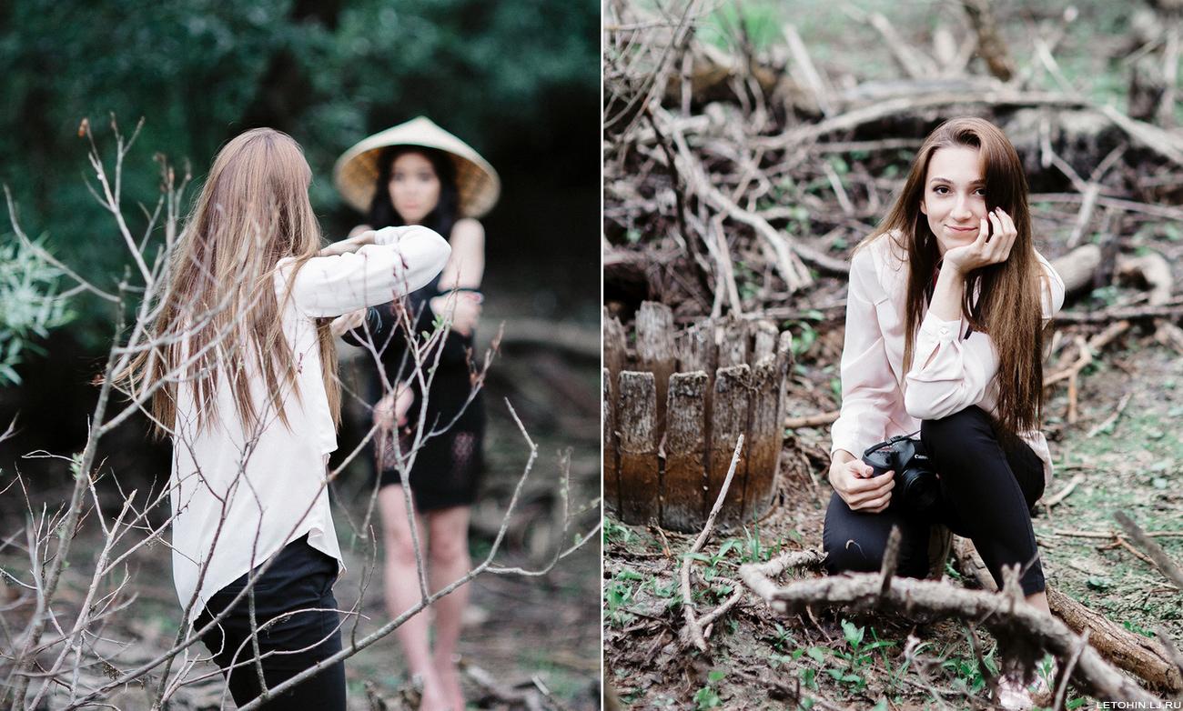 Марианна и съемка на болоте.