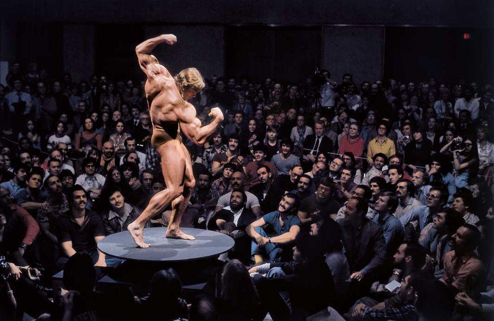 Нью-Йорк, 1976 год. Арнольд Шварценеггер. Выставка «Артикуляция мышц: искусство мужского тела» в Муз