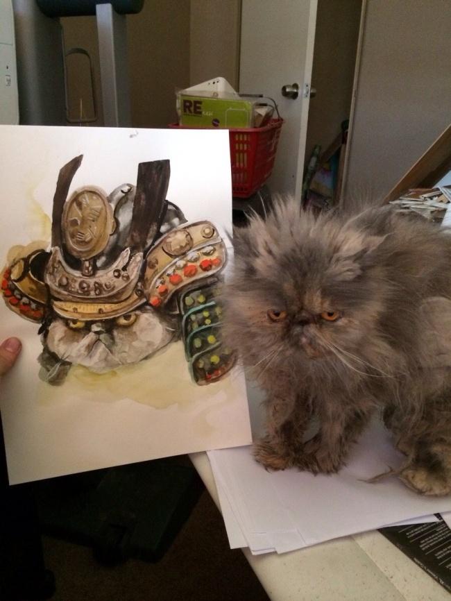 © reddit  Забыл впустить кошку вдом. Доживаю свои последние минуты