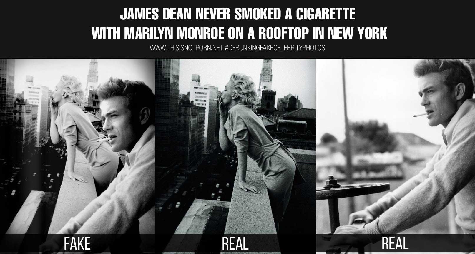 «Джеймс Дин не курил в компании Мэрилин Монро на крыше дома в Нью-Йорке».