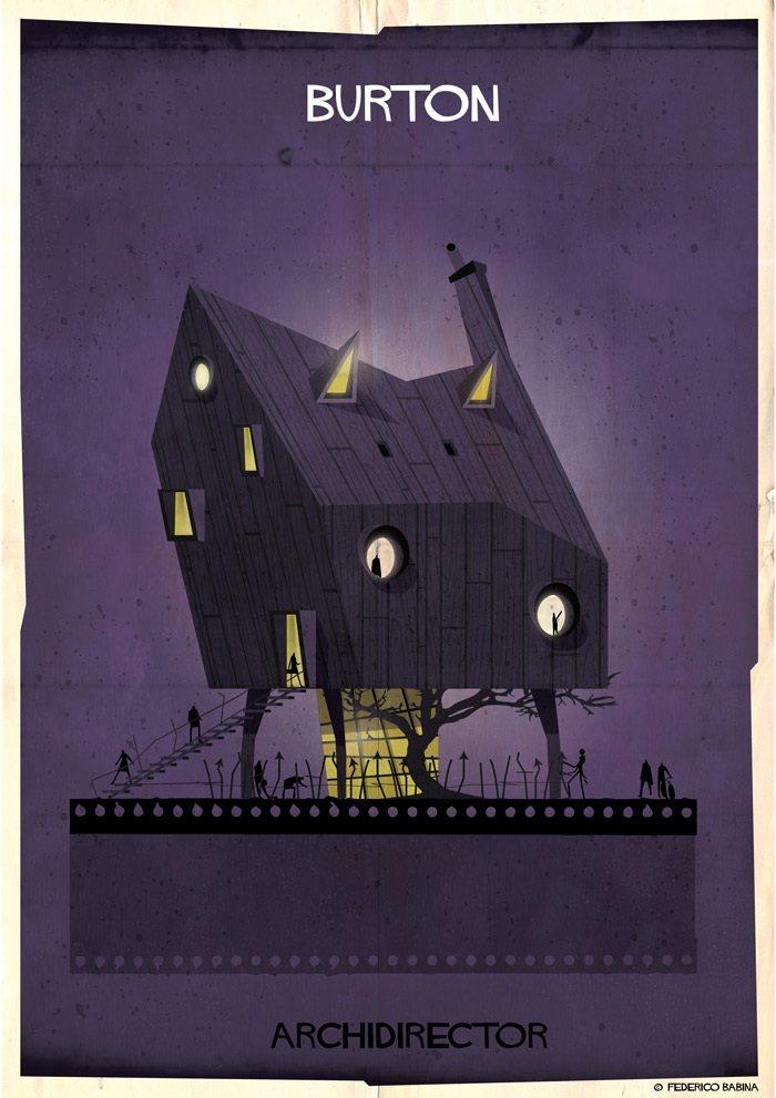 Как бы выглядели дома культовых кинорежиссёров, если бы строились по их собственным фильмам (15 фото)