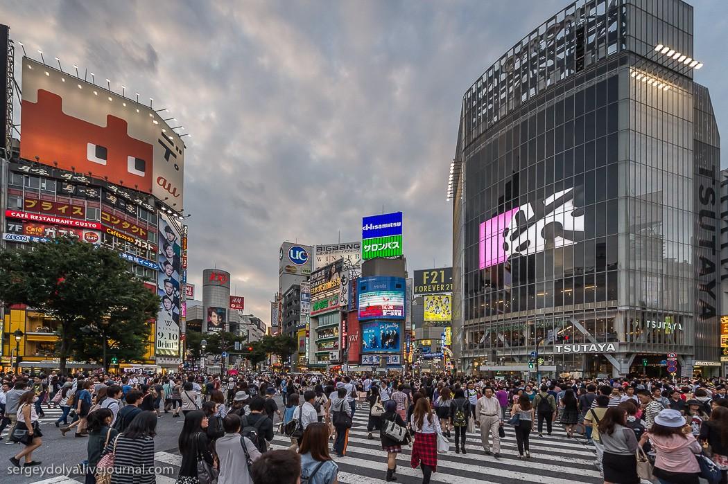33. Сибуя — японский Таймс-сквер или Пикадилли-сёркус. Вечерний таймлапс перекрестка.