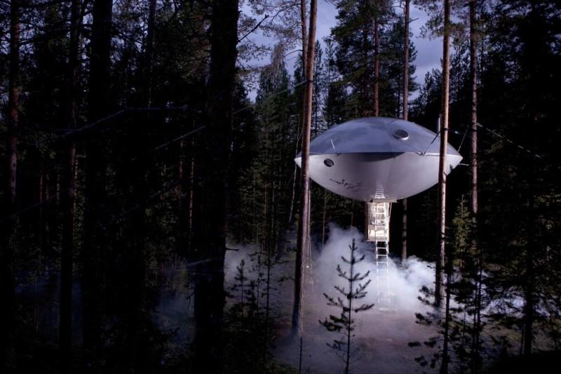 Tree Hotel, Швеция Если тропические леса вас не привлекают и вам больше нравятся скандинавские виды,