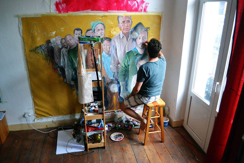 «Уязвимость»: сирийский художник представил мировых лидеров в образе беженцев
