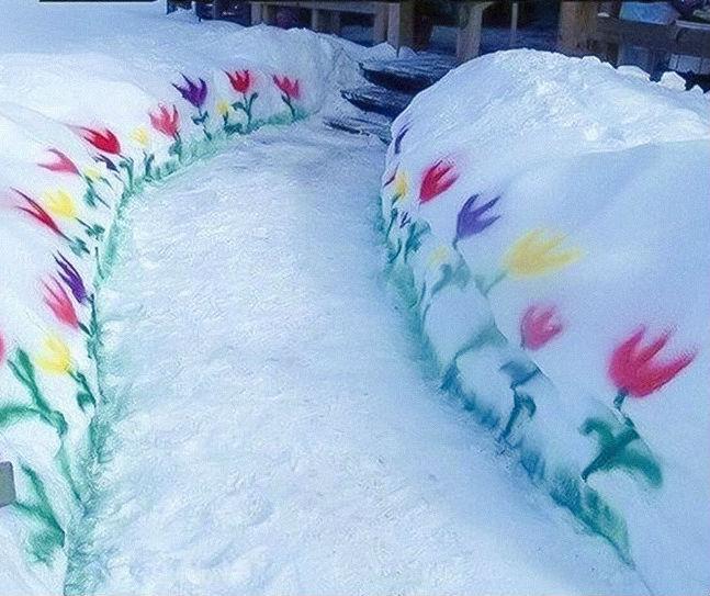 Когда сосед устал ждать весны.