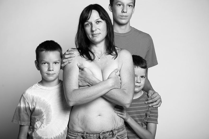 Красота и естественность материнского тела в фотопроекте Джейд Билл