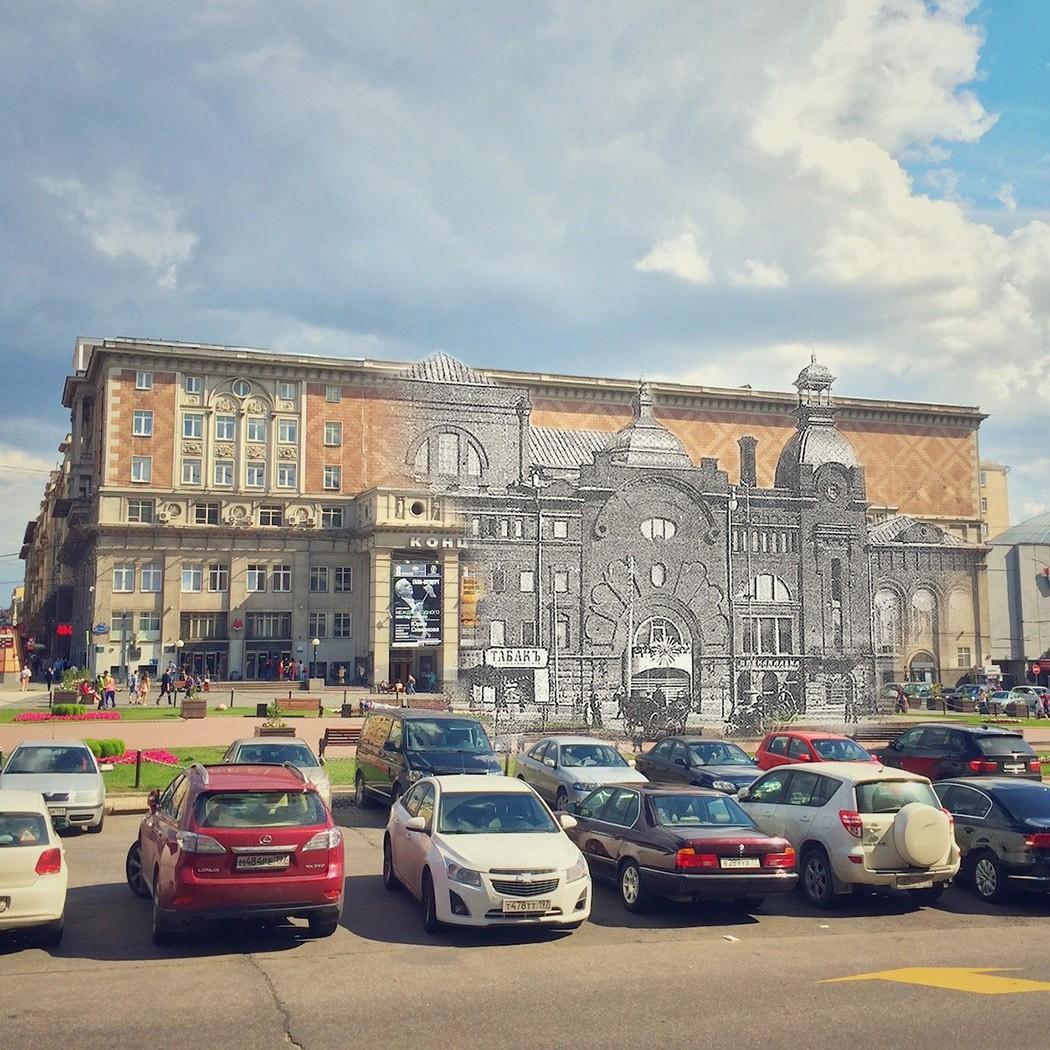 19. Концертный зал Чайковского — Театр Омона. На Триумфальной площади с 1901 года располагался театр