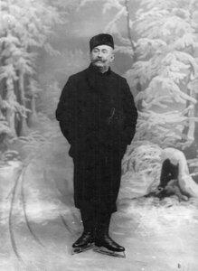 Портрет конькобежца Дица.