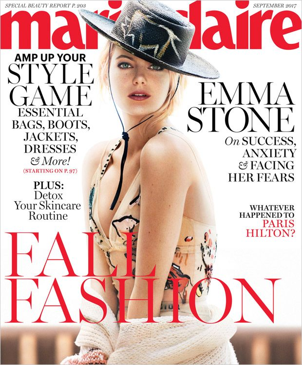 Emma Stone is the Cover Star of Marie Claire September 2017 Issue (3 pics)