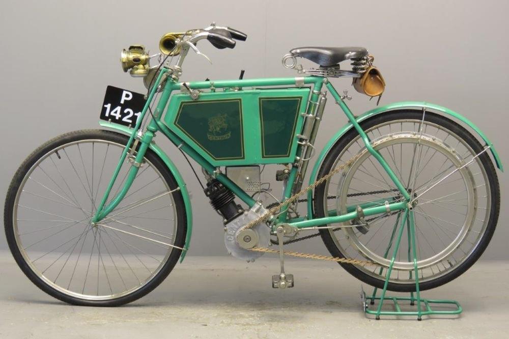 Старинный велоцикл Centaur Minerva 1902