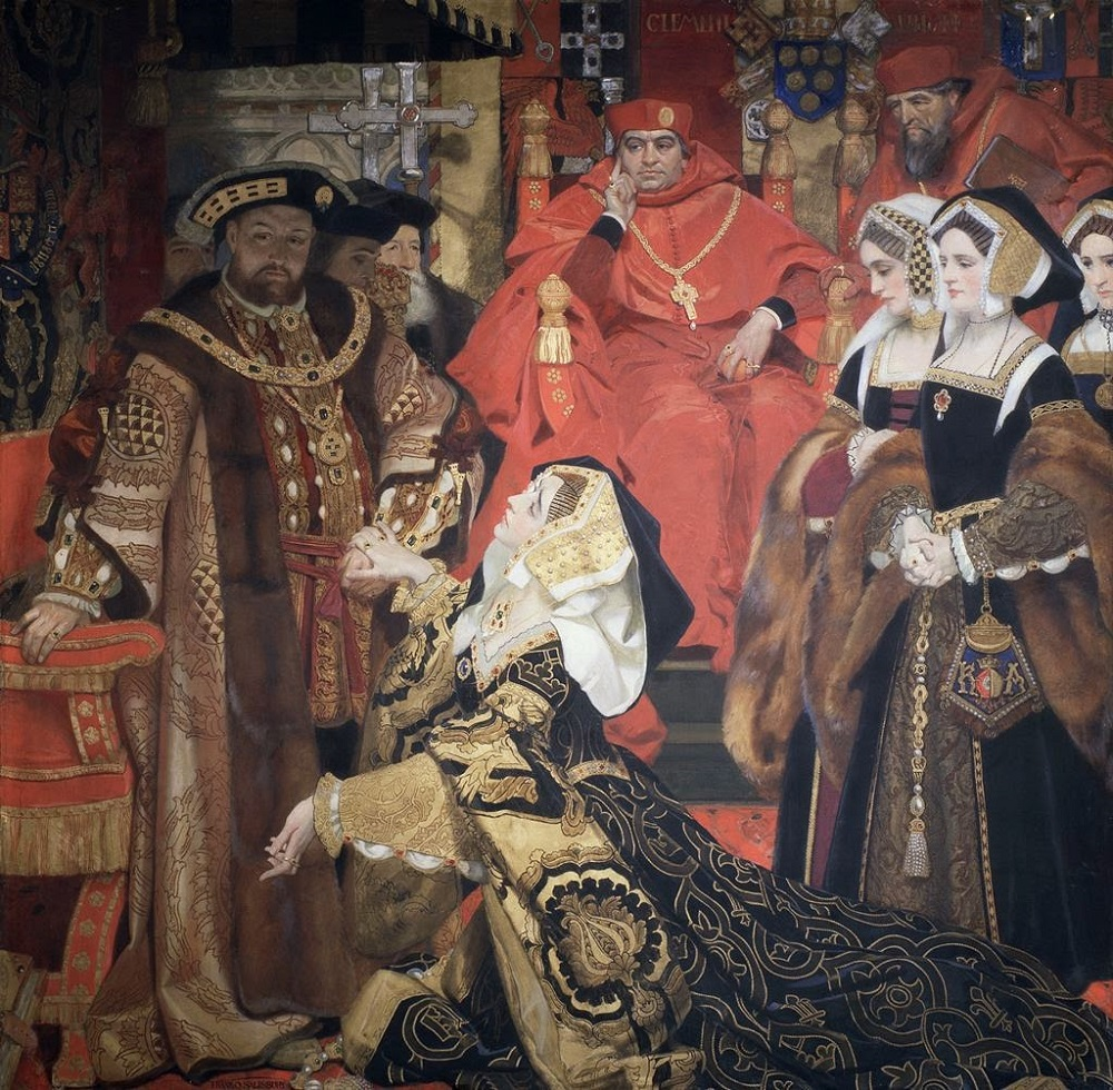 Henry VIII and Catherine of Aragon before the Papal Legates at Blackfriars in 1529.jpg