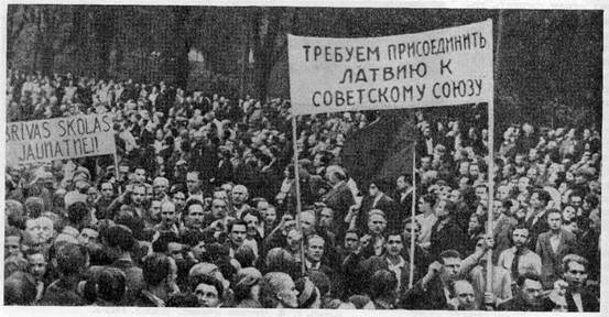 Великая страна СССР,Восстановление Советской власти в Литве, Латвии и Эстонии