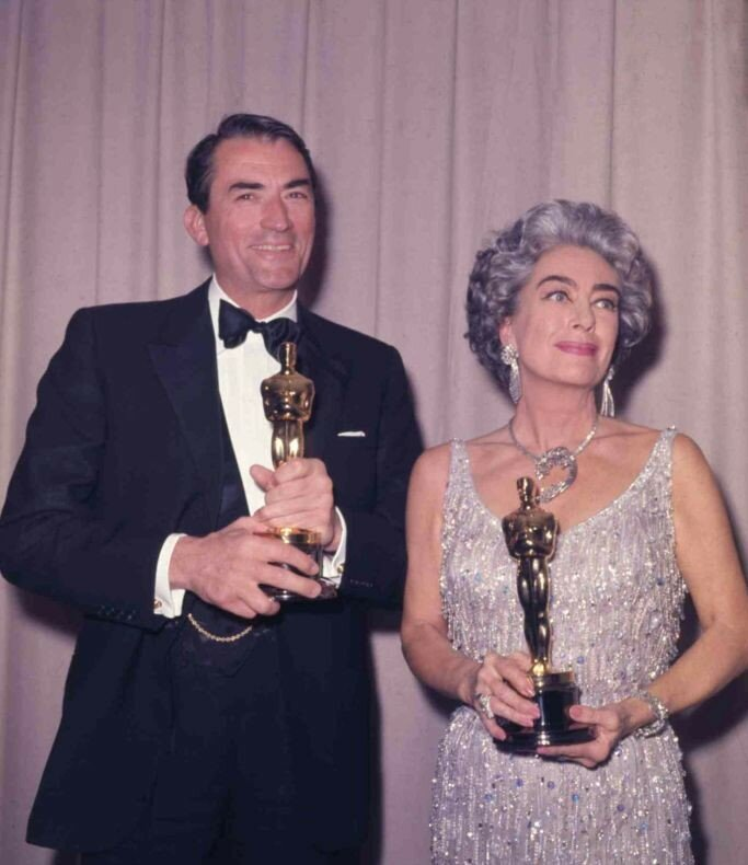 Oscars Gregory Peck Joan Crawford, Santa Monica, USA