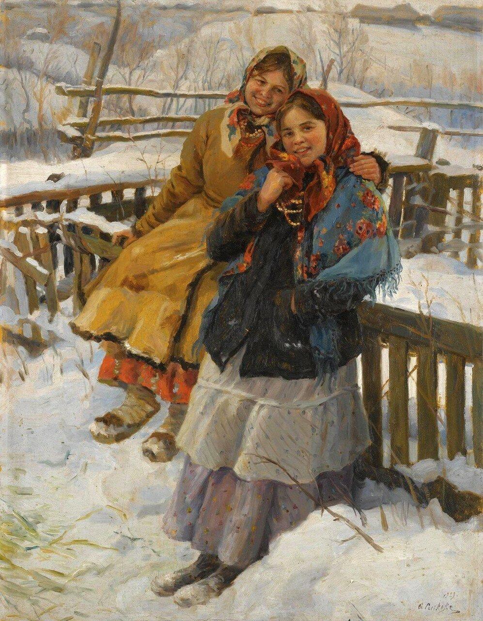 Девушки в платках на никах