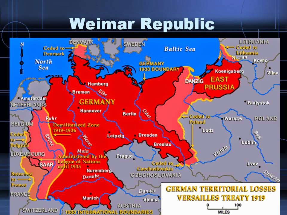 the german weimar republic after the first world war Burdensome reparations imposed after world war i they now felt compelled to support the weimar republic as the imperial war museum—first world war.