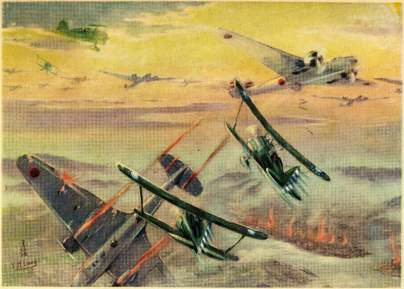 22. Aerial combat above Chungking