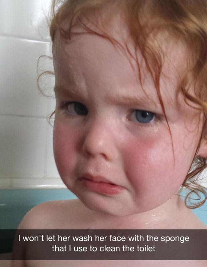 «Я не разрешила ей умыть лицо мочалкой, которую использую для мытья туалета».