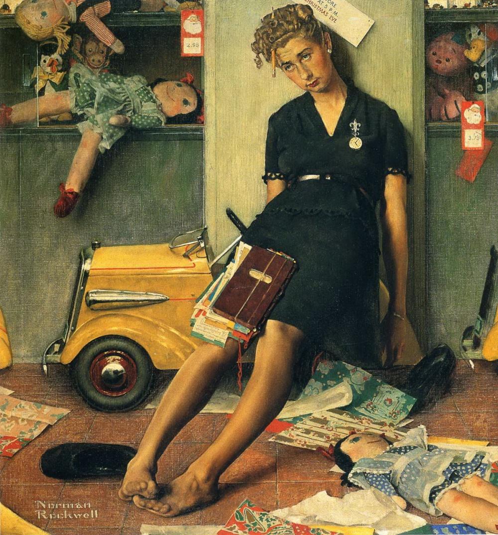 Картины Роквелла— настоящие мини-истории оповседневной жизни. Иной раз даже появляется ощущение, ч