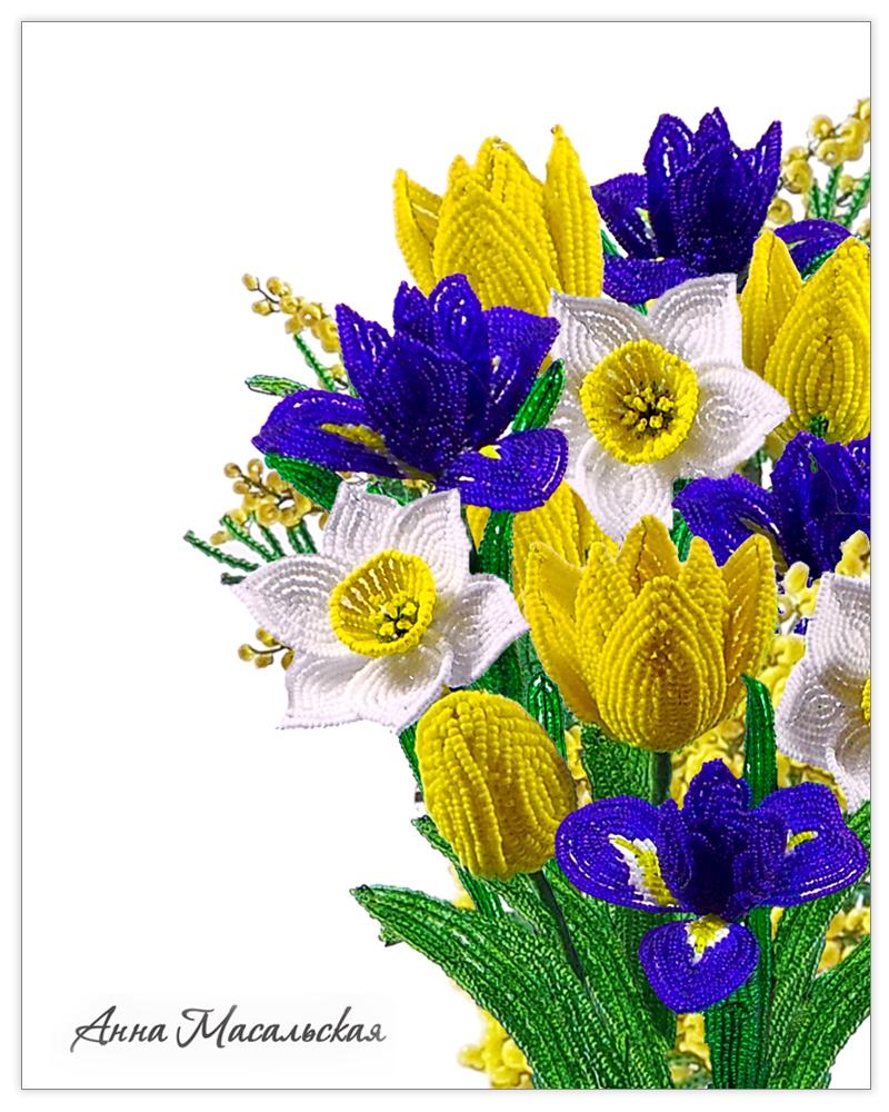 Композиция букет из тюльпанов и нарциссов #12