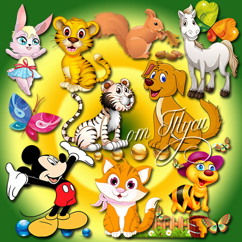 Детский клипарт - Потешный зоопарк