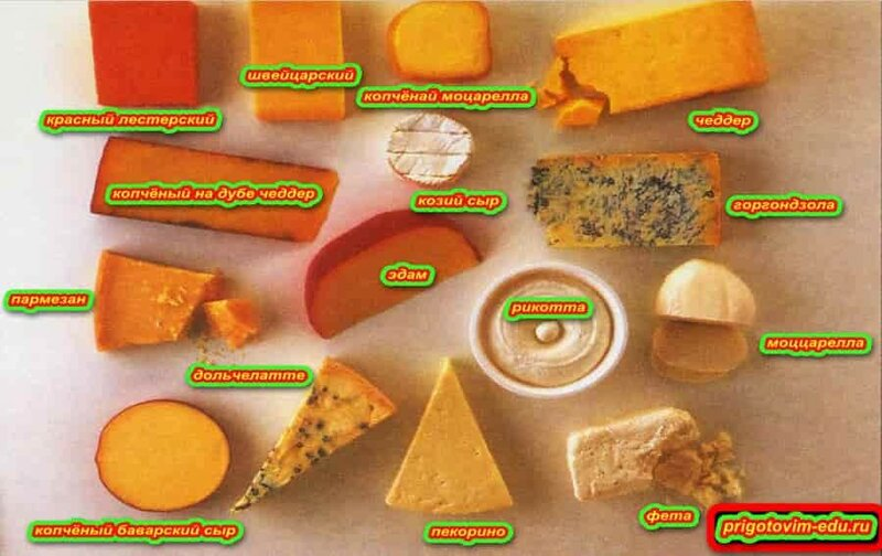 Виды сыров для пиццы