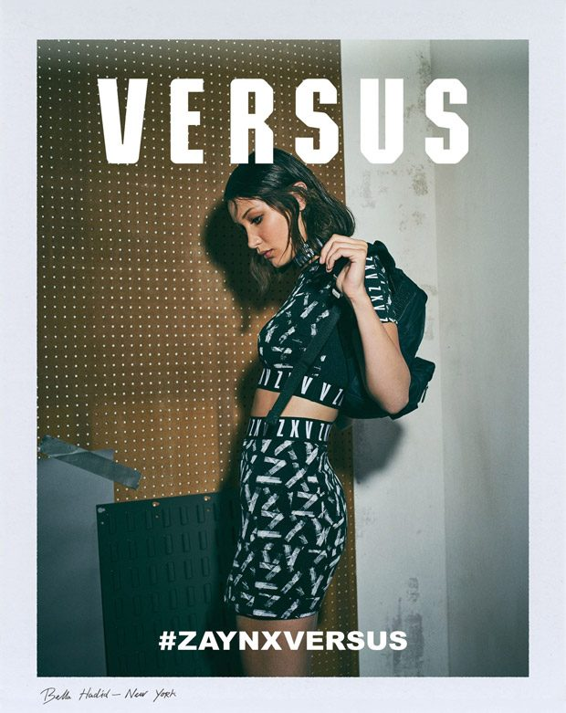 Zayn Malik & Bella Hadid Model Zayn x Versus Capsule Collection 2017