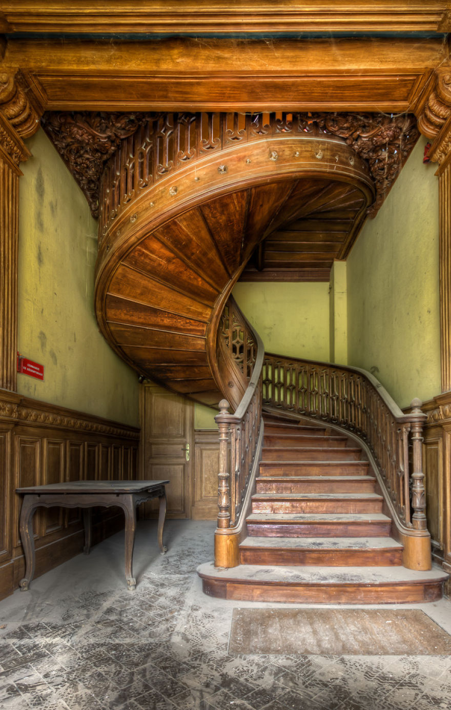 Abandoned Staircases by Roman Robroek