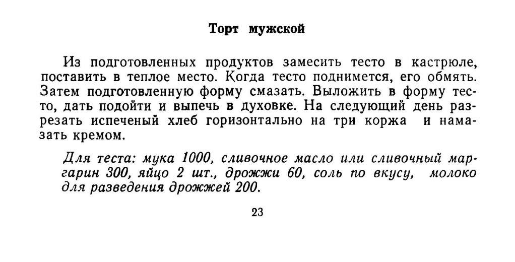 Мужской торт, Удмуртская кухня, Соковнин, 1075