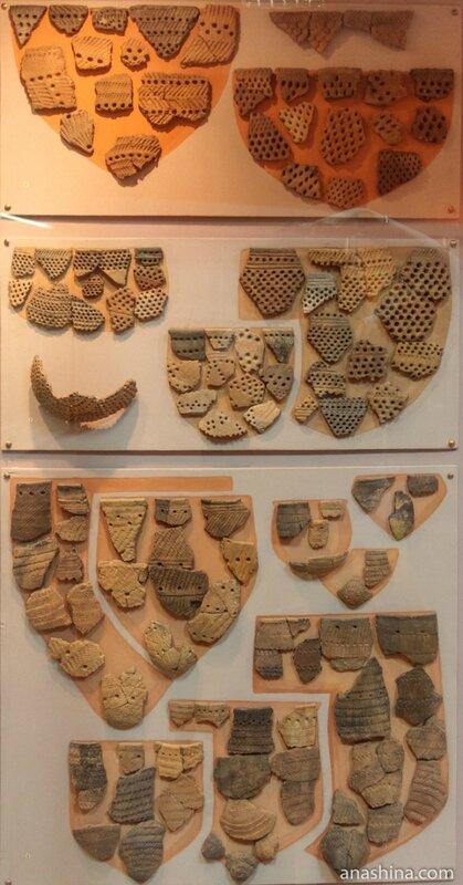 Фрагменты ямочно-гребенчатой керамики, Вытегорский краеведческий музей