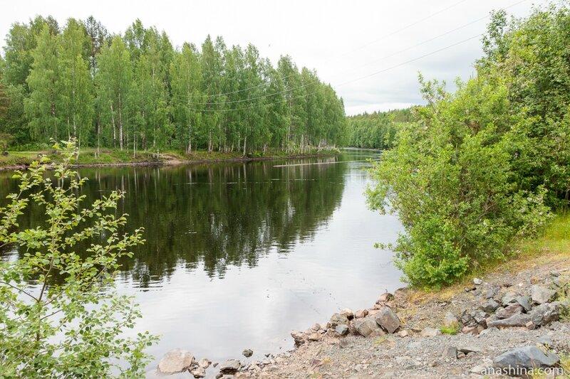 Подводящий канал Пальеозёрской ГЭС, Карелия