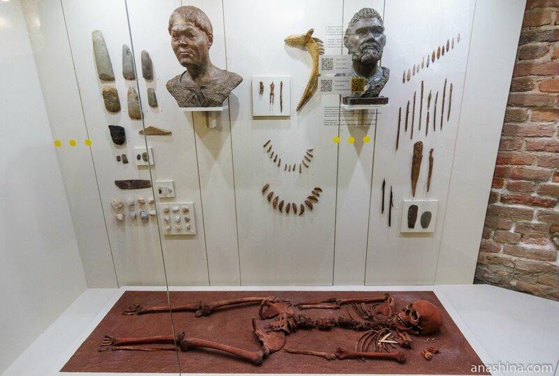 Могильник на Южном Оленьем острове Онежского озера (VI тыс. до н.э.), Национальный музей Республики Карелия