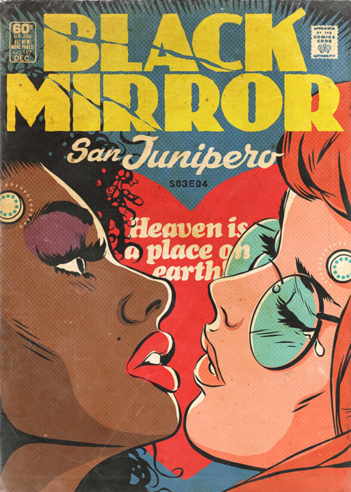 Black Mirror - Transformer les episodes en comics americains vintage