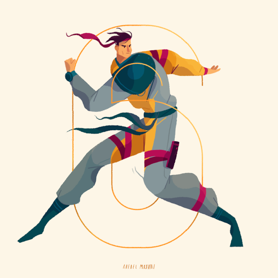 Nice Illustrations of Characters and Numbers