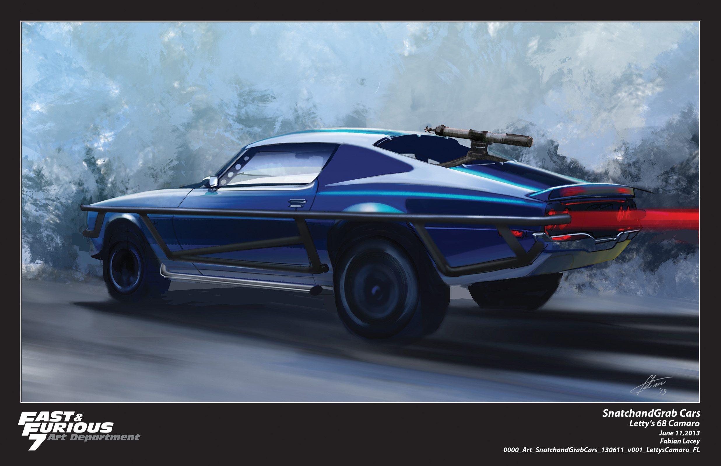 Furious 7 Concept Art by Fabian Lacey