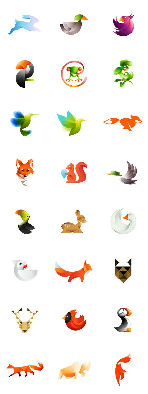 Quando animais viraram logos coloridos (6 pics)