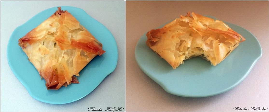 тесто-фило сырные конвертики фото-рецепт